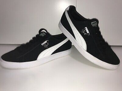 Puma Clyde In Black & White Uk Size 7 • 1.70£