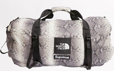 $ CDN226.96 • Buy Supreme The North Face Snakeskin Flyweight Duffle Bag Black SS18 DS Brand New