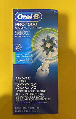 AU58.71 • Buy Oral-B Pro 1000 3d Cross Action Rechargeable Toothbrush White