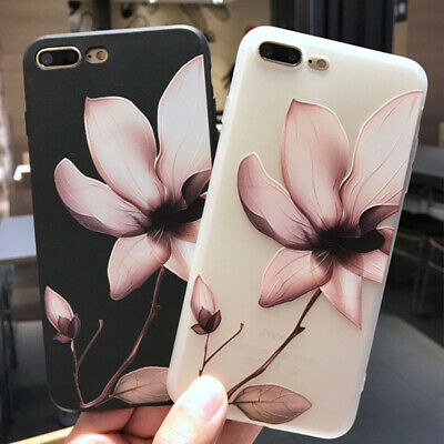 AU4.78 • Buy For IPhone 11 Pro XS Max XR 8 7 Flower Floral Rubber Soft Phone Case Cover Girls
