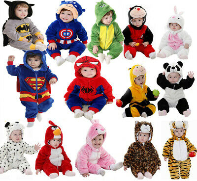 Baby Newborn Toddler Boy Girl Animal Romper Outfit Costume Christmas Fancy Dress • 15.49£