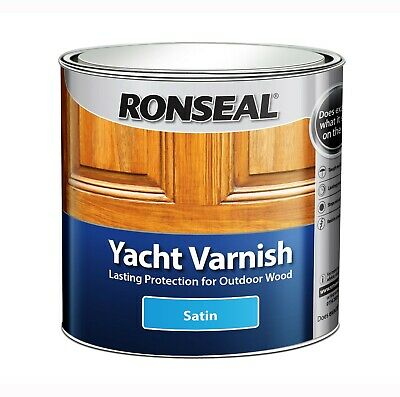 Ronseal Exterior Long Lasting Yacht Varnish Satin Finish - 250ml • 12.49£