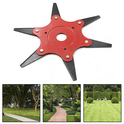 AU15.38 • Buy New Trimmer Head 6 Steel Blades Razors Lawn Mower Grass Weed Remover Cutter