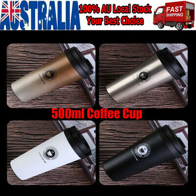 AU16.89 • Buy 500ml Stainless Steel Thermal Insulated Tea Coffee Mug Cup Travel Leakproof Cup