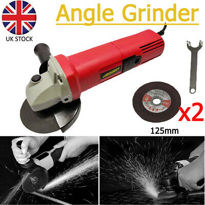850W Corded Electric Angle Grinder 125mm Heavy Duty Cutting Grinding Polisher • 17.90£