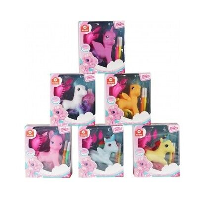 Pretty Pink Unicorn Horse Toy With Hair Accessories And Coloured Pens Equestrian • 8.89£