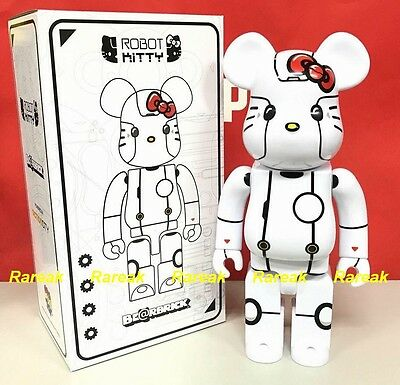 $197.99 • Buy Medicom Be@rbrick 2017 Action City 400% Robot Hello Kitty White Ver. Bearbrick