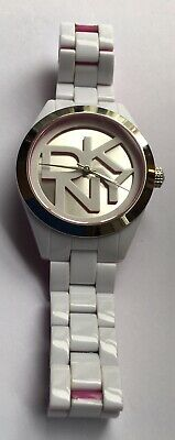 DKNY Ladies Watch White Pink In Box • 10£