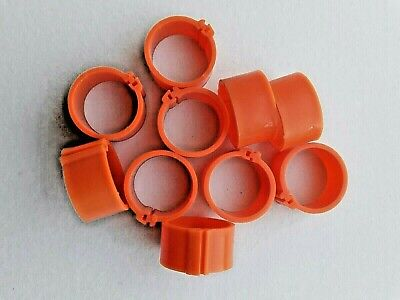 10 X 16mm Poultry Clip Leg Rings For Chicken, Pigeon, Pheasant, Chicks Etc • 2.49£