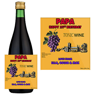 Personalised Birthday Buckfast Tonic Wine Bottle Label For Any Occasion BL033 • 2.79£