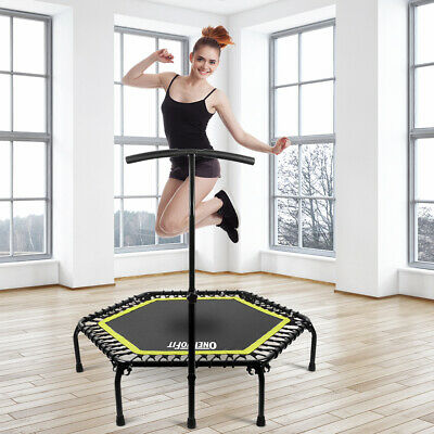 45  Mini Trampoline Rebounder Safety Fitness Mini Gym Exercise Indoor Outdoor • 49.99£