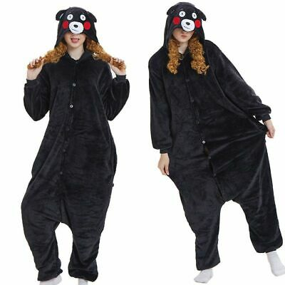 Kumamon Bear Pajama Unisex Sleepwear Comfortable Nightwear Hoodie Costume Suit • 6.79£