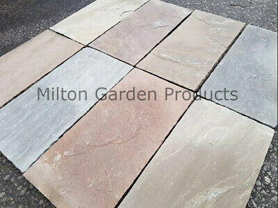 Raj Green 600x290 22mm Calibrated Natural Indian Sandstone Paving  *Nationwide* • 392.99£