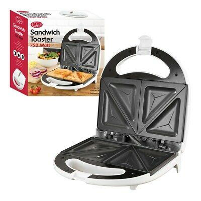 Sandwich Maker Toaster Toastie Maker Panini Press Health Grill Griddle WHITE NEW • 13.99£