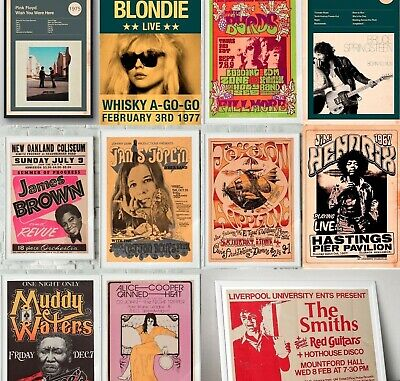 $16.51 • Buy ROCK BAND Prints & Posters, Concert Posters, Gig Posters, Band Prints, Wall Art