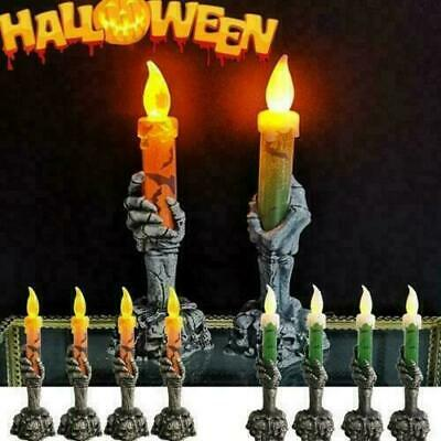 Halloween Skeleton Hand Led Lamp Candle Flame Light Stand Lamp Party Decoration • 3.69£