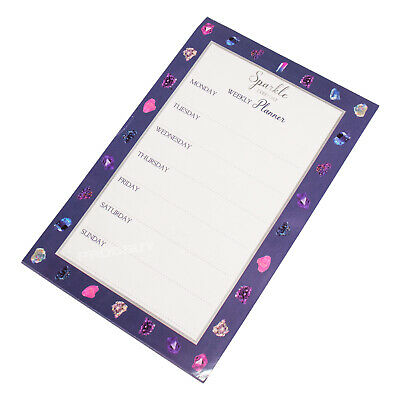 £4.49 • Buy A5 Sparkle Weekly Planner List Memo Pad Notepad Fridge Magnet Magnetic 52 Sheets