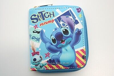 $ CDN17.29 • Buy Lilo And Stitch Disney Blue Wallet Purse Women Girl Faux Leather Coins Cards Zip