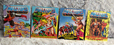 $21 • Buy (4) Vintage 80's Masters Of The Universe Mini Comic Book Lot