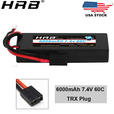 $ CDN48.76 • Buy HRB 2S 6000mAh 7.4V Lipo Battery 60C Hardcase For RC Car Airplane Truck Drone US
