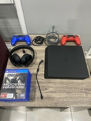 AU390 • Buy Sony PlayStation 4 Ps4 Slim 500gb Console 2 Controllers Headset And 7 Games