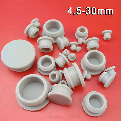 $ CDN9.18 • Buy Gray Snap-on Hole Plug Silicone Rubber Blanking End Caps Seal Stopper 4.5-30mm