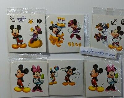£2.49 • Buy 10 X Minnie , Mickey Mouse Temporary Tattoos Kids Birthday Party Bag Fillers