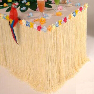 9Ft Hawaiian Luau Beach Colorful Flower Grass Party Table Skirt Cover Decor  UK • 8.42£