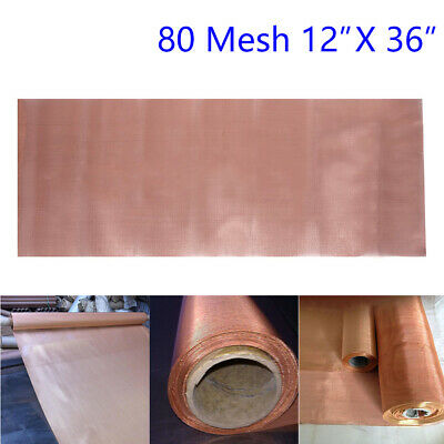 200 Microns 80 Mesh Copper Woven Wire Filter Screen Dry Sift Filtration 12x36in • 9.94£