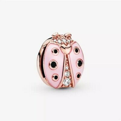 Pink Ladybird Lady Bird REFLEXIONS Charm & Gift Pouch - Sterling Silver S925 • 10.55£