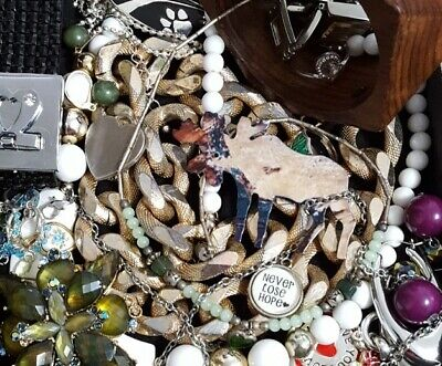 $ CDN32.94 • Buy Vintage Now Unsearched Untested Junk Drawer Jewelry Lot Estate Most Wear L822