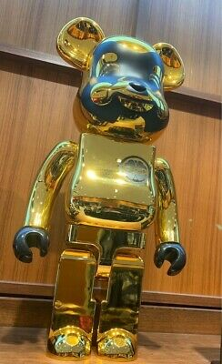 $6000 • Buy GOLD EVISU Bearbrick 1000% Medicom Toy Be@rbrick Golden US SHIPPER Very Rare