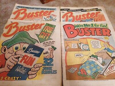 Buster Comic 4x Issues  3 From 1986 And 1 From 1983 • 0.99£