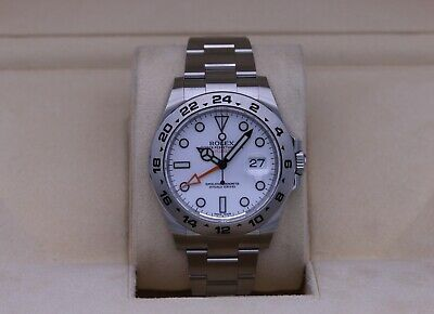 $ CDN14966.55 • Buy Rolex Explorer II 216570 White Dial 42mm Stainless - 2020 Box & Papers