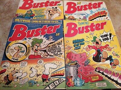 Buster Comic 4x Issues From 1988 • 0.99£