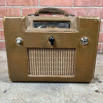 $ CDN208.01 • Buy Early '50s Magnatone Vintage Tube Guitar Amp Student M-199-3J Built Into Radio
