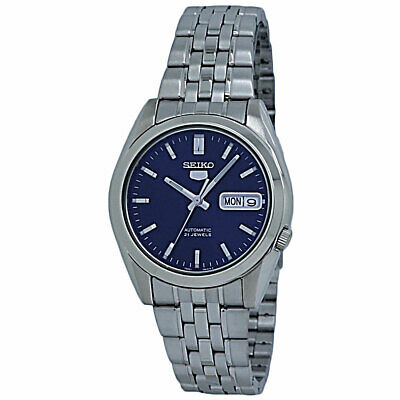$ CDN117.82 • Buy Seiko 5 Automatic Blue Dial Stainless Steel Men's Watch SNK357