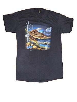 $ CDN201.07 • Buy Vintage 3D Emblem T Shirt Tag Sz L Backroads Eagle Landscape Mountains USA Mint