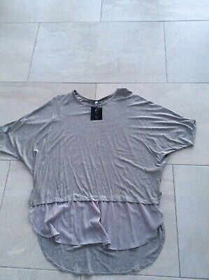Ladies Grey Top Zulu Brand free Size But To Fit 18-20 BNWT • 7.99£
