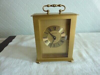 Vintage Quartz Brass Carriage Clock By Staiger. Made In West Germany. • 5.99£