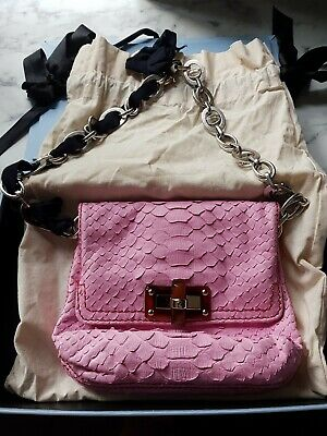 NEW NEVER USED Lanvin Leather Bag   Happy Pink Snakeskin • 250£