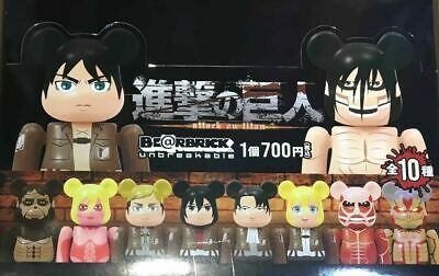 $189.99 • Buy Medicom Be@rbrick Attack On Titan 100% Keychain Bearbrick Full Set 10pcs
