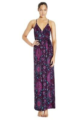 AU35 • Buy Tigerlily Alacati Floral Purple & Blue Maxi Stretch Dress.  Size 10