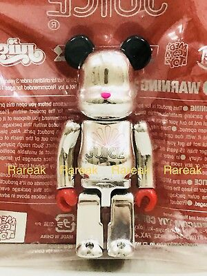 $91.99 • Buy Medicom Be@rbrick 2009 Clot Juice Silver Merry Christmas 100% X'Mas Bearbrick
