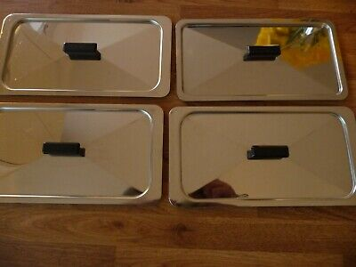 Vintage Philips EKCO Hostess Heated Trolley Replacement Lids. X 4 • 2£