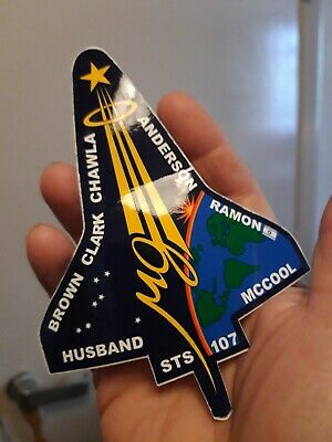 Space Shuttle Columbia Crew STS-107 Sticker  • 3.80£