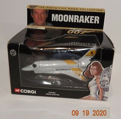 MOONRAKER SPACE SHUTTLE James Bond Corgi 007  CC04001 Original Box • 9£