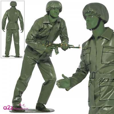 Mens Green Toy Story Soldier Costume Plastic Army Adult Stag Party Fancy Dress • 22.95£