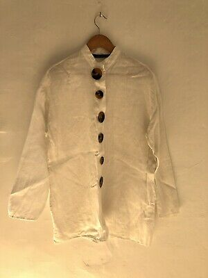AU13 • Buy Womens Zara White Linen Shirt XS