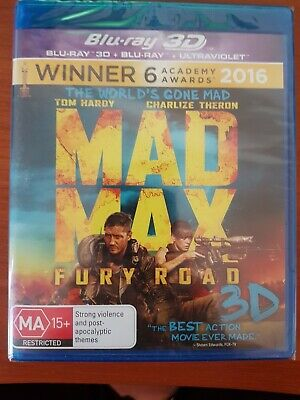 AU13.95 • Buy Mad Max Fury Road 3d Blu Ray - New Not Sealed Inc 3d & 2d Box Replaced Free Post